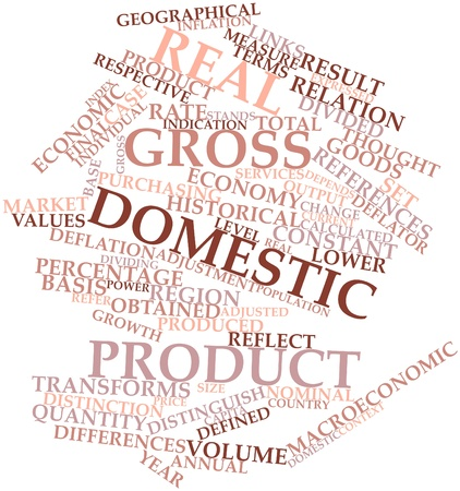 Abstract word cloud for Real gross domestic product with related tags and terms Stock Photo - 16559785