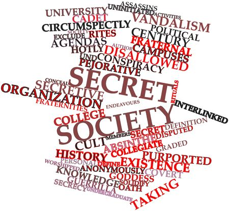 undergraduate: Abstract word cloud for Secret society with related tags and terms
