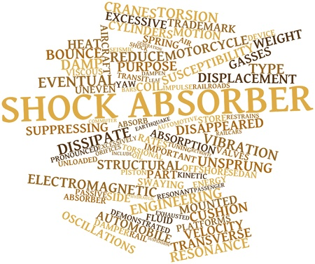 retrofit: Abstract word cloud for Shock absorber with related tags and terms