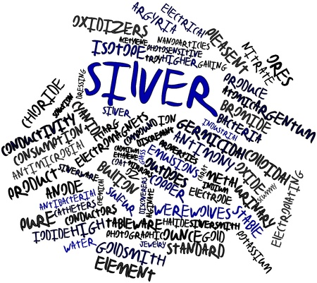 electroplating: Abstract word cloud for Silver with related tags and terms