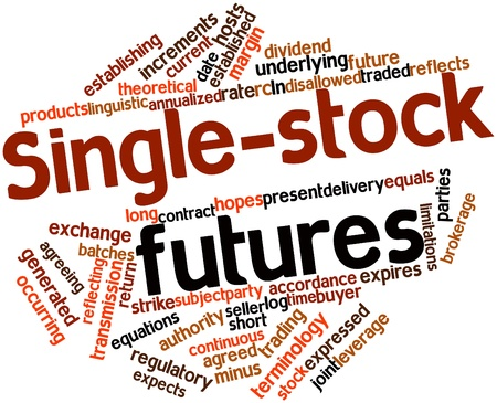 stock market return: Abstract word cloud for Single-stock futures with related tags and terms