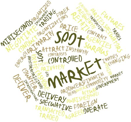 Abstract word cloud for Spot market with related tags and terms Stock Photo - 16559498
