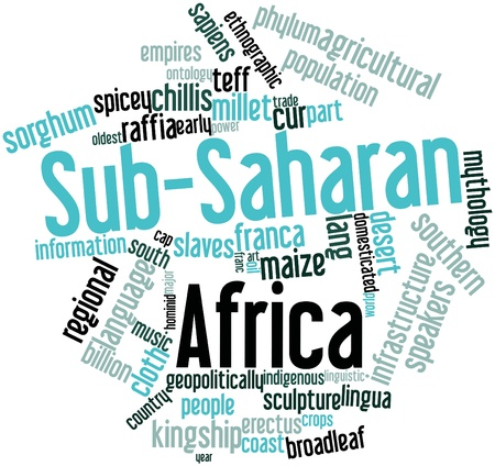 legitimacy: Abstract word cloud for Sub-Saharan Africa with related tags and terms Stock Photo