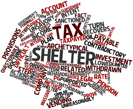 unethical: Abstract word cloud for Tax shelter with related tags and terms