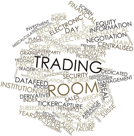 bourse: Abstract word cloud for Trading room with related tags and terms