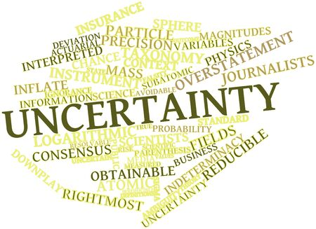 denoted: Abstract word cloud for Uncertainty with related tags and terms