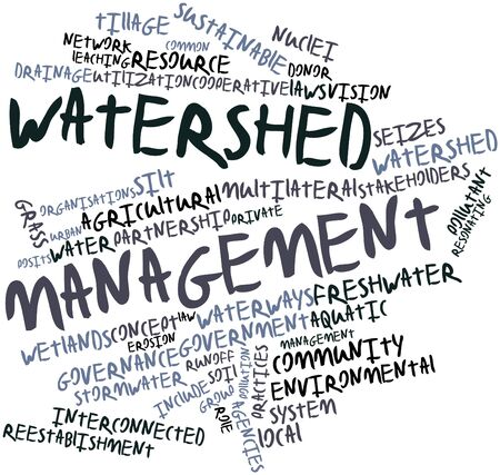 watershed: Abstract word cloud for Watershed management with related tags and terms