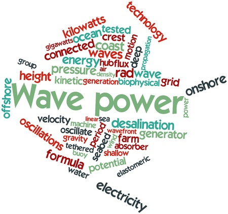 diurnal: Abstract word cloud for Wave power with related tags and terms
