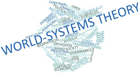 social history: Abstract word cloud for World-systems theory with related tags and terms