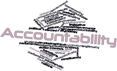 Abstract word cloud for Accountability with related tags and terms