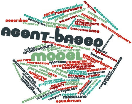 tenet: Abstract word cloud for Agent-based model with related tags and terms