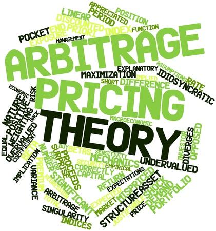 priori: Word cloud astratto per la teoria Arbitrage pricing con tag correlati e termini