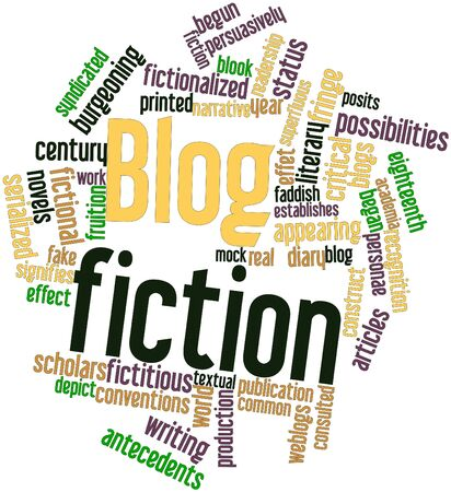 consulted: Abstract word cloud for Blog fiction with related tags and terms