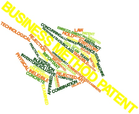 technical term: Abstract word cloud for Business method patent with related tags and terms