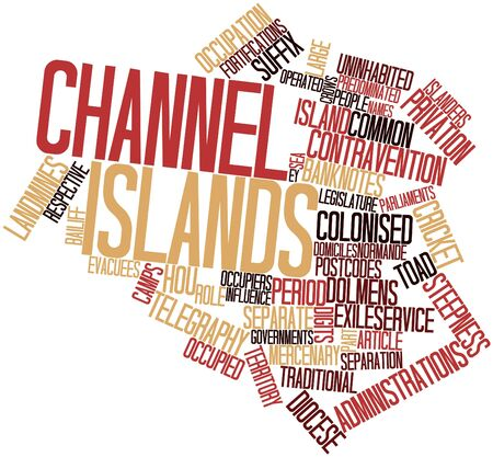 islanders: Abstract word cloud for Channel Islands with related tags and terms