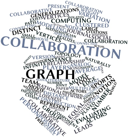 Abstract word cloud for Collaboration graph with related tags and terms Stock Photo - 16571860