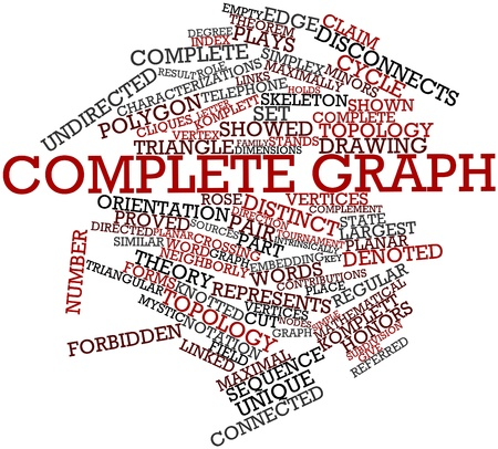 Abstract word cloud for Complete graph with related tags and terms Stock Photo - 16571864