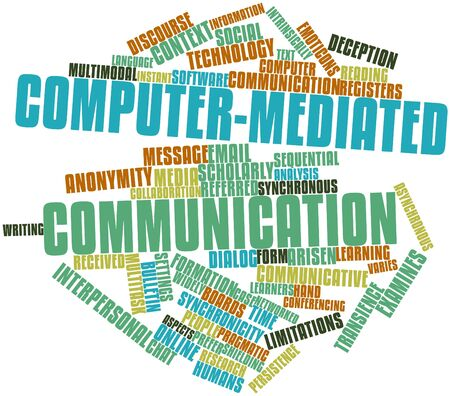 Abstract word cloud for Computer-mediated communication with related tags and terms Stock Photo - 16571849