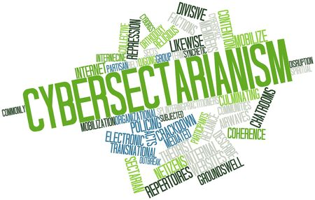 sectarian: Abstract word cloud for Cybersectarianism with related tags and terms