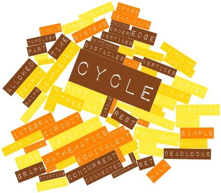 Abstract word cloud for Cycle with related tags and terms Stock Photo - 16571890