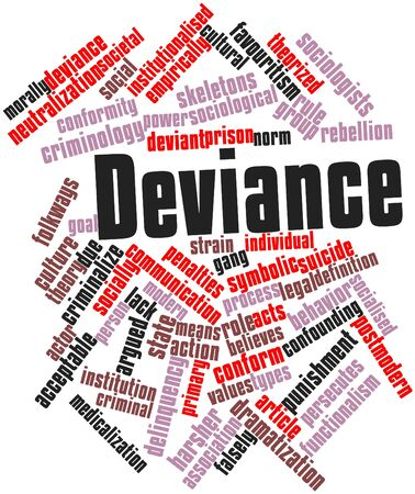 Abstract word cloud for Deviance with related tags and terms Stock Photo - 16571930