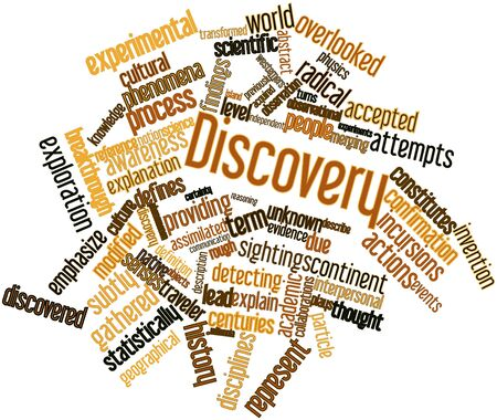 Abstract word cloud for Discovery with related tags and terms Stock Photo - 16571957