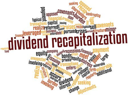 changes in equity: Abstract word cloud for Dividend recapitalization with related tags and terms