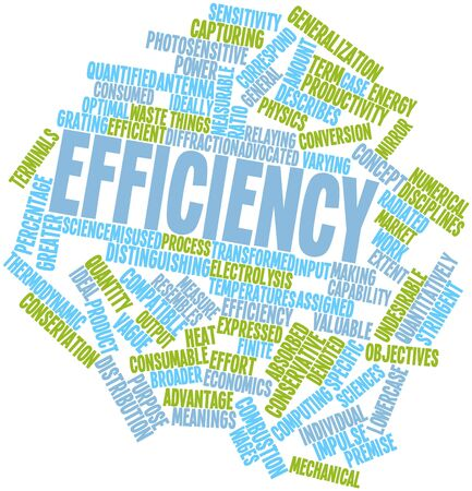 Abstract word cloud for Efficiency with related tags and terms Stock Photo - 16571935