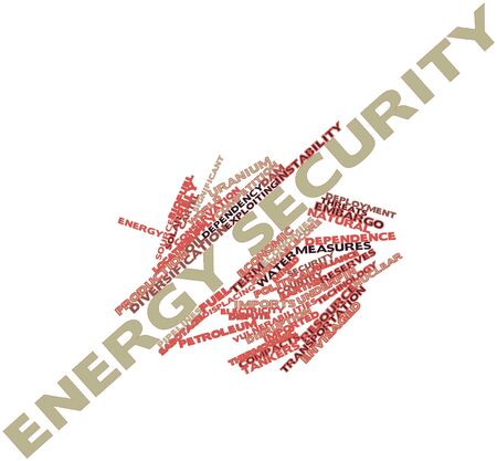 reliance: Abstract word cloud for Energy security with related tags and terms