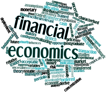 irrelevant: Abstract word cloud for Financial economics with related tags and terms