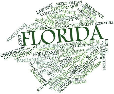 florida state: Abstract word cloud for Florida with related tags and terms