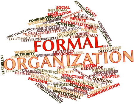 Abstract word cloud for Formal organization with related tags and terms Stock Photo - 16571931