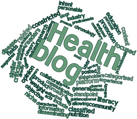 Abstract word cloud for Health blog with related tags and terms Stock Photo - 16571879