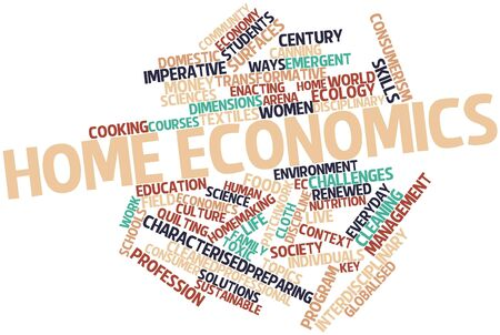 vocational: Abstract word cloud for Home economics with related tags and terms