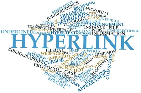 Abstract word cloud for Hyperlink with related tags and terms Stock Photo - 16571897