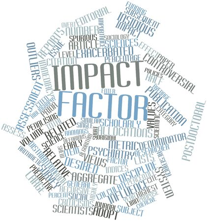 predictive: Word cloud astratto per Impact factor con tag correlati e termini