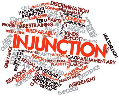 abuso sexual: Nube palabra abstracta para Interdicto con etiquetas y términos relacionados