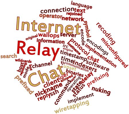scalability: Abstract word cloud for Internet Relay Chat with related tags and terms