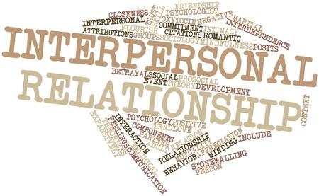 mindfulness: Abstract woordwolk voor Interpersoonlijke relatie met gerelateerde tags en voorwaarden