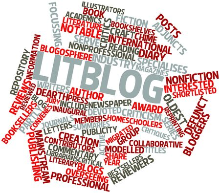 inaugural: Abstract word cloud for Litblog with related tags and terms Stock Photo