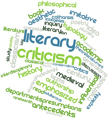 renown: Abstract word cloud for Literary criticism with related tags and terms
