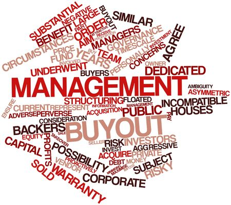 incompatible: Abstract word cloud for Management buyout with related tags and terms Stock Photo