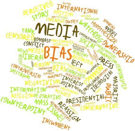bias: Abstract word cloud for Media bias with related tags and terms