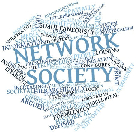 decentralized: Abstract word cloud for Network society with related tags and terms