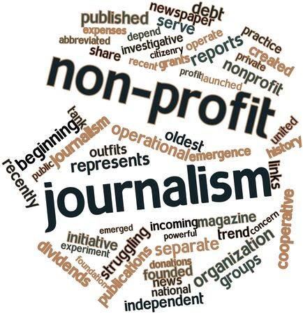 launched: Abstract word cloud for Non-profit journalism with related tags and terms