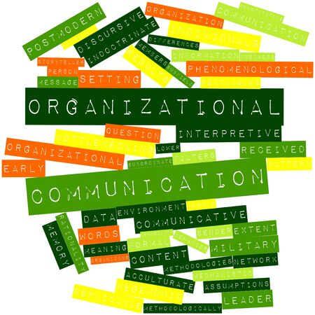 Abstract word cloud for Organizational communication with related tags and terms Stock Photo - 16572083
