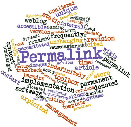 Abstract word cloud for Permalink with related tags and terms Stock Photo - 16572066