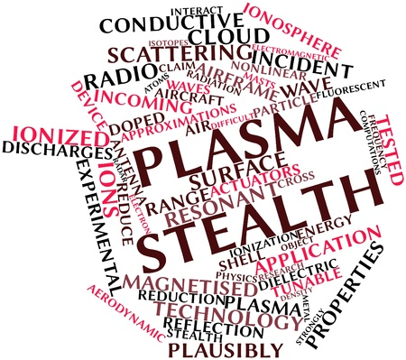 Abstract word cloud for Plasma stealth with related tags and terms Stock Photo - 16572054