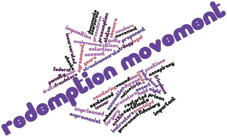 proponent: Abstract word cloud for Redemption movement with related tags and terms
