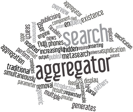 Abstract word cloud for Search aggregator with related tags and terms Stock Photo - 16572077